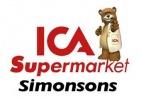 ICA Supermarket Simonsons logotyp