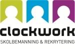 Clockwork Skolrekrytering och Skolbemaning logotyp