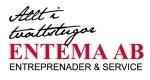 Entema Entreprenader & Service logotyp