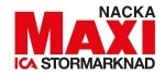 Ica Maxi Stormarknad Nacka logotyp
