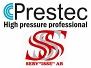 Prestec & Servisse logotyp