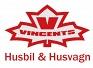 Vincents Husbil & Husvagn logotyp
